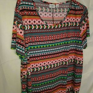 Plus Size Cato Top Size 22/24 Tribal Print